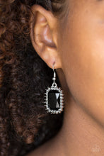 Load image into Gallery viewer, Downtown Dapper - Black Earring