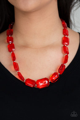 Ice Versa - Red Necklace