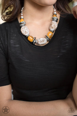 In Good Glazes - Peach Blockbuster Necklace