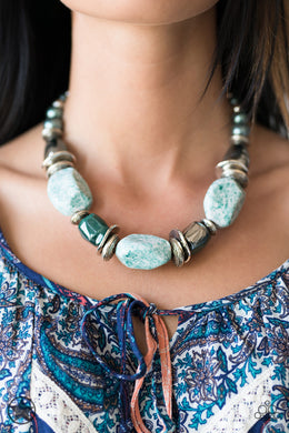 In Good Glazes - Blue Blockbuster Necklace