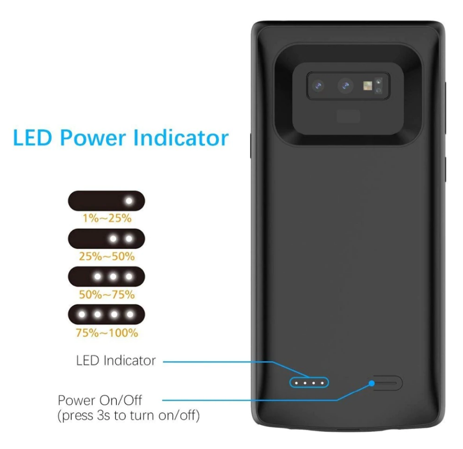 Samsung Galaxy Note9 Battery Case (5000 mAH) - Plus Battery Cases
