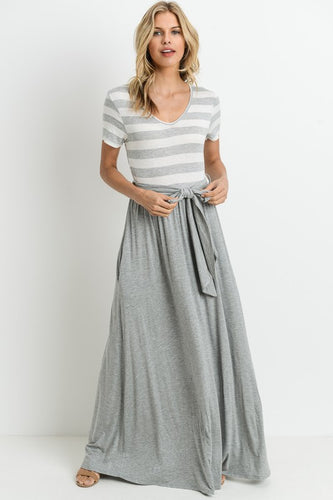 State of Mind Banded Maxi Dress