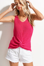 Load image into Gallery viewer, Knotted Summer Knit Tank