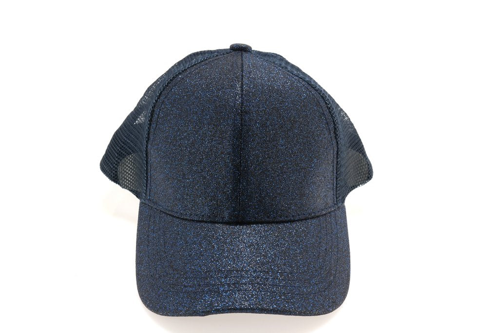 Kids Glitter High Ponytail CC Ball Cap