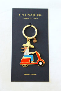 Scooter Gal Keychain