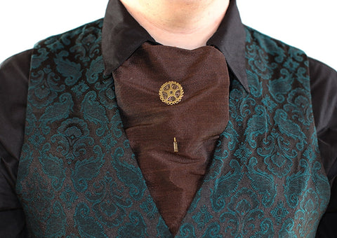 Dragophelion Designs Steampunk Cravat Pin with Single Gear | Angel Clothing