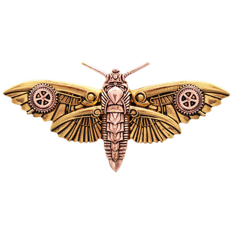 Anne Stokes Magradores Moth Brooch Steampunk Engineerium | Angel Clothing