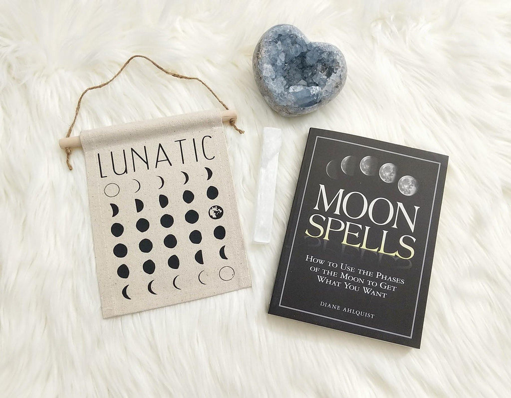 Lunatic Moon Phases Cotton Canvas Wall Decor