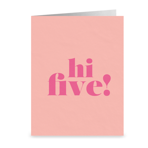 High Five Folded Cards