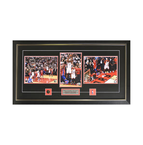"Kawhi Leonard ""The Shot"" Framed Photo (35 by 19 Frame)"