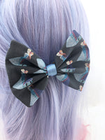 CLEARANCE! Elsa and Anna Handmade Frozen Fabric Hair Bow