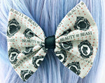 CLEARANCE! Beauty and the Beast Cameo Medium Fabric Hair Bow - Belle Silhouette