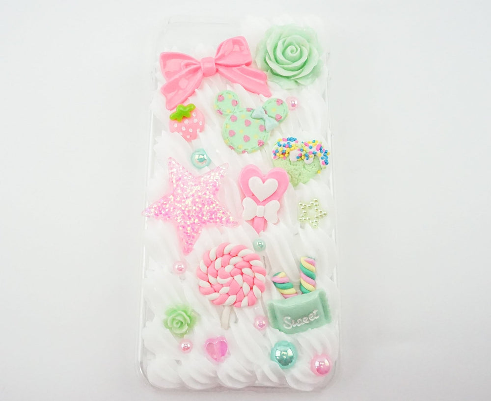 Mint & Pink Candy Inspired Iphone 7 Plus Decoden Case