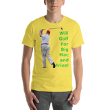 Bella and Canvas Short-Sleeve Unisex T-Shirt: big mac and fries green text