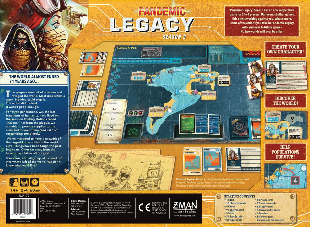 Pandemic Legacy Season 2 (Yellow Edition) - Board Games Master Australia | KIds | Familiy | Adults | Party | Online | Strategy Games | New Release