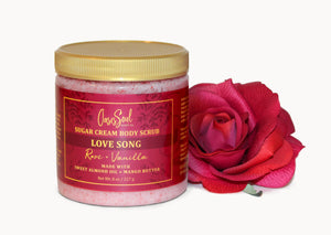 LOVE SONG - Sugar Cream Body Scrub {rose + vanilla}