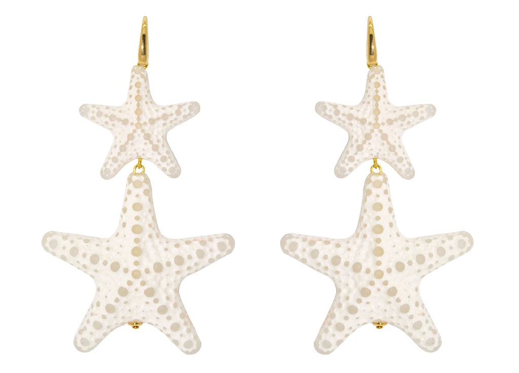 Double ivory starfishes