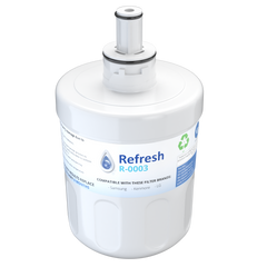 Refresh R-0003 Replacement Water Filter - Fits Samsung Aqua-Pure Plus DA29-00003G, RF263AEBP, RS22HDHPNSR, and more!
