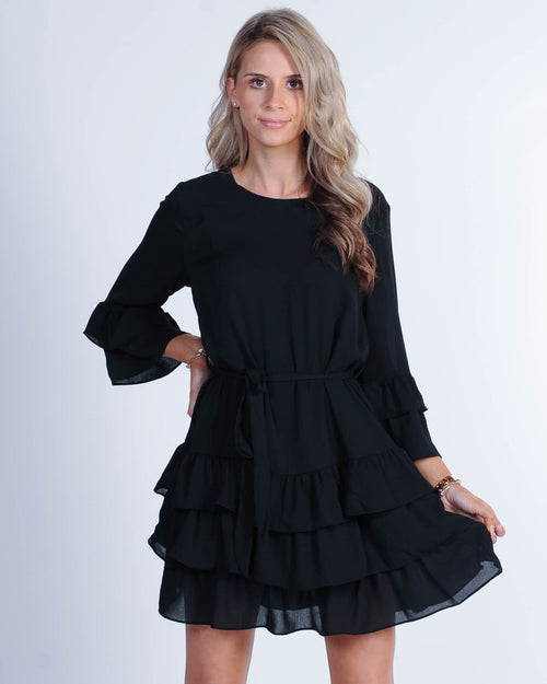 On The Town Mini Dress - Black