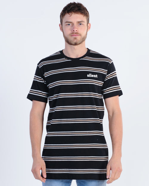 Silent Theory Exit Stripe Tee - Black
