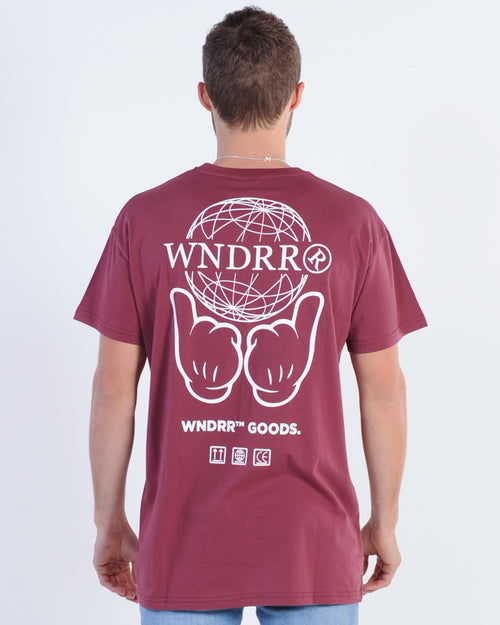 Wndrr Treats Custom Fit Tee - Burgundy