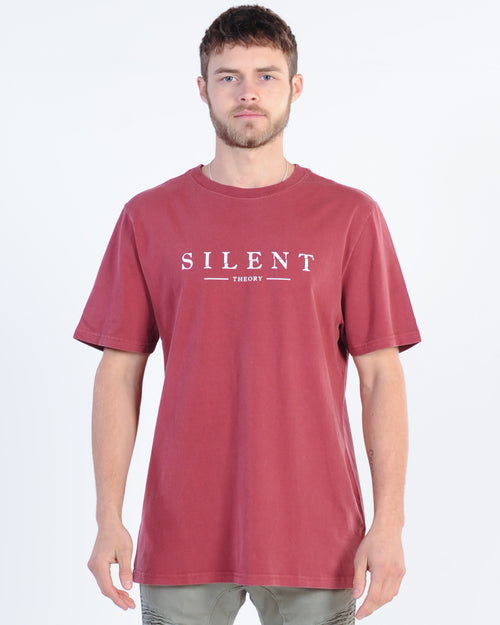 Silent Theory Spell Out Tee - Burgundy