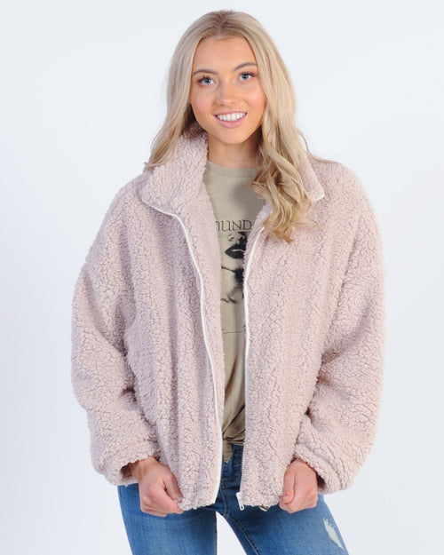 Sundays Sheepish Teddy Coat - Cream
