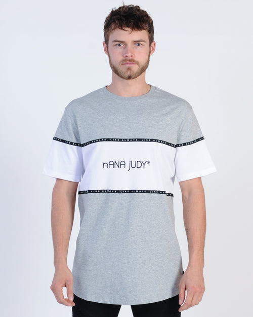 Nana Judy Mayfair Panel Tee - Grey Marle