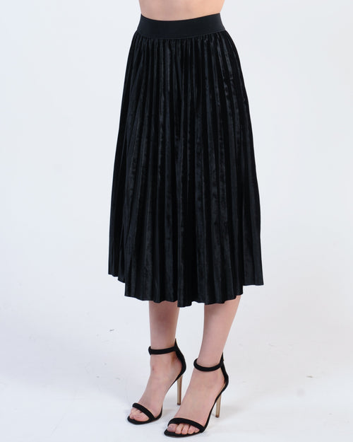 Caught My Eye Midi Skirt - Black