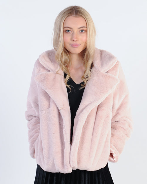 Wild At Heart Fur Jacket - Beige