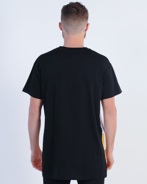 Wndrr Delhi 3 Panel Tee - Black/White/Tan