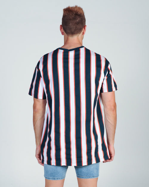 Wndrr Letter Vert Stripe Custom Fit Tee - Multi