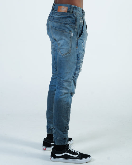 Nena & Pasadena Destroyer Pant - Petrol Blue