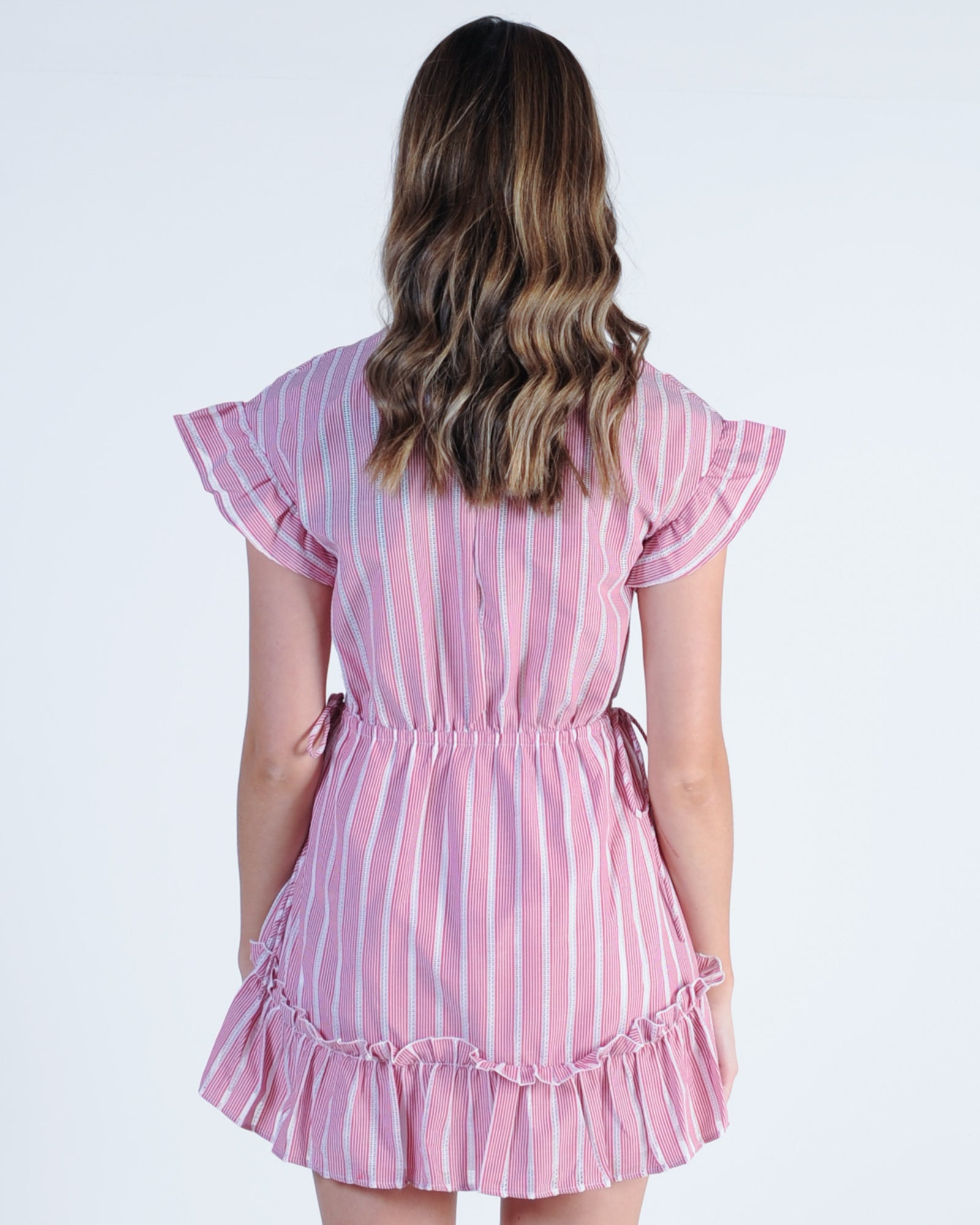 The Fifth Label Kite Stripe Dress - Red White