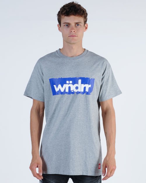 Wndrr Afflicted Custom Fit Tee - Grey Marle