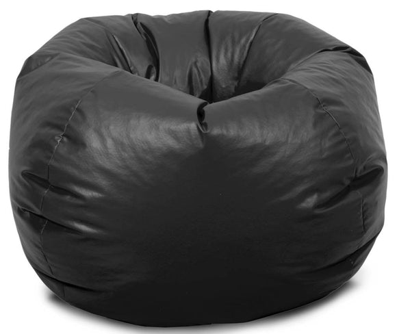Black XL Bean Bag | Filled Bean Bag | Comfort