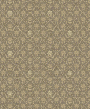 Heston Brown Trellis Wallpaper-Its honey trellis design dazzles against a rich brown background.