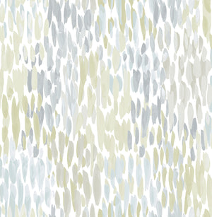 Blue Make It Rain Peel & Stick Wallpaper-blue, grey watercolor design made to look like rainfall.