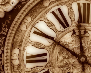 Vintage Clock Wall Mural-close up details of an antique clock