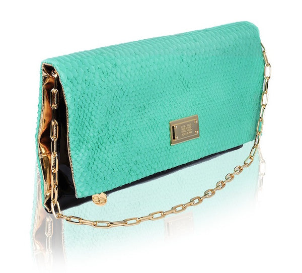Capre Madrid Green And Black Patent Handbag - Womens Handbags