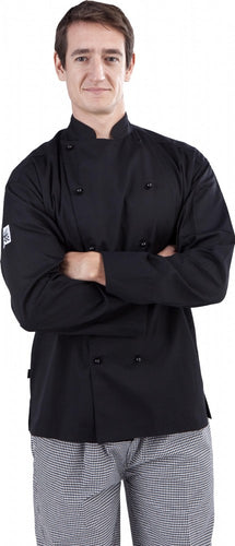CR - Classic Black Long Sleeve Chef Jacket