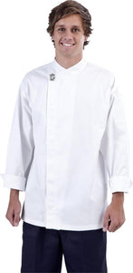 Modern White Long Sleeve Chef Jacket