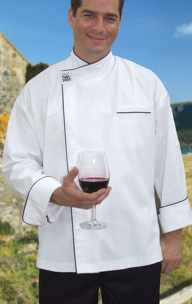 Chef Revival Modern Chef Jacket with Black Trim