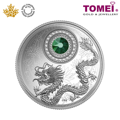 "Tomei x  Royal Canadian Mint Silver 9999 ""2016 May Birthstones with Swarovski® Crystal"" Numismatic Coin (150722)"