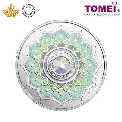 "Tomei x Royal Canadian Mint Silver 9999 ""2018 October Birthstone with Swarovski® Crystals"" Numismatic Coin (165305)"
