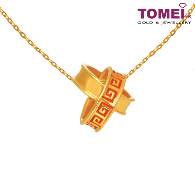 Tomei Yellow Gold 916 (22K) Devotedly Crossed Pendant (9P-YG0565P-EC)