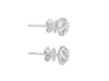 "Tomei White Gold 375 (9K) ""Heart on Fire"" Diamond Earrings (E1238)"