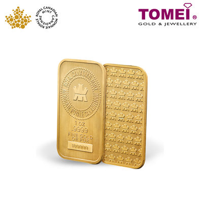 "Tomei x Royal Canadian Mint Yellow Gold 9999 (24K) ""Canada Gold Wafer"" 1 Oz. (CMP-R-1Z)"