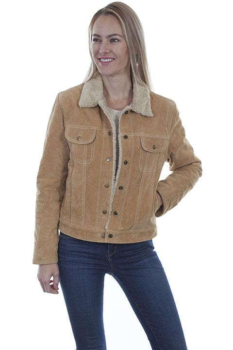 Womens Western Suede Jean Jacket from Scully-L1019 - Blanche's Place