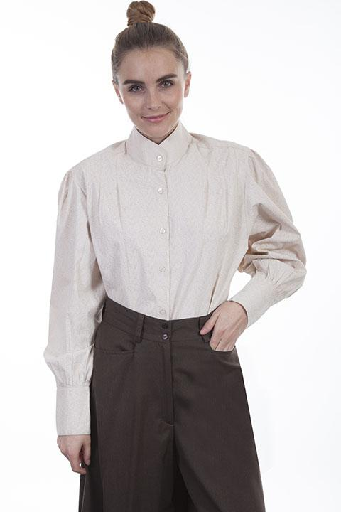 Ladies Ranch Style Western Blouse-RW594 - Blanche's Place